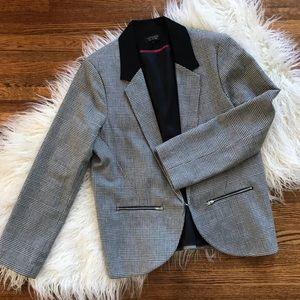 TopShop Houndstooth Blazer Jacket Women's Size 12